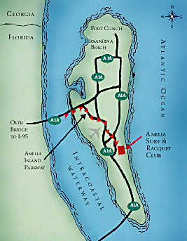 Amelia Island Map Amelia Surf Racquet Club